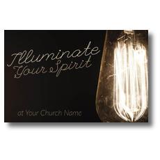 Illuminate Light Bulb Postcard