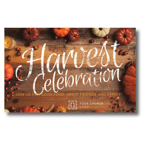 Pumpkin Border Church Postcards