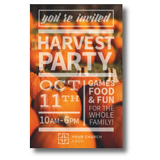 Pumpkin Event Postcard
