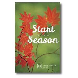 Season Red Leaves Postcards