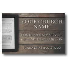 Tablet Bible Postcard