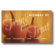 Three Pumpkins Postcard