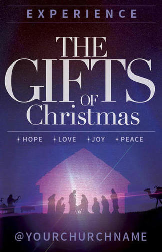 The Gifts of Christmas Advent Postcard - Church Postcards - Outreach ...