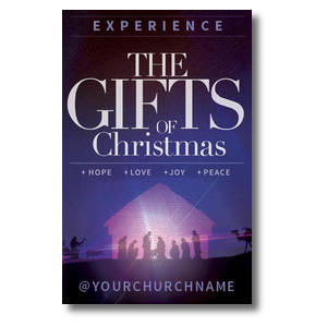 The Gifts of Christmas Advent Church Postcards