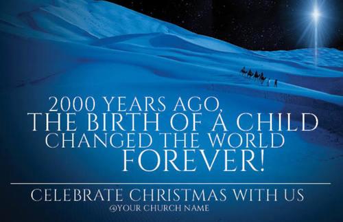 2000 years ago postcard - church postcards