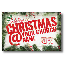 Christmas At Church Postcard
