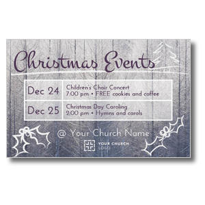 Christmas Events Grid Postcards