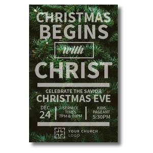 Christmas Tree Event Postcards