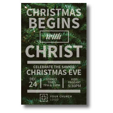 Christmas Tree Event Postcard