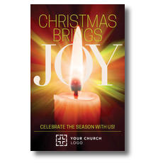Joy Candle Postcard
