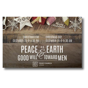 Peace On Earth Ornaments Postcards