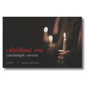 People Christmas Eve Candles Postcards