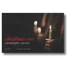People Christmas Eve Candles Postcard