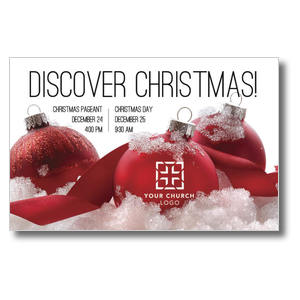 Red Ornaments Postcards