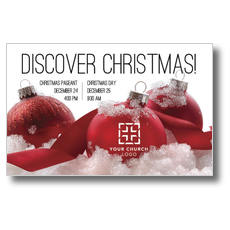 Red Ornaments Postcard