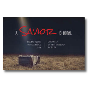 Savior Born Postcards