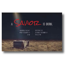 Savior Born Postcard