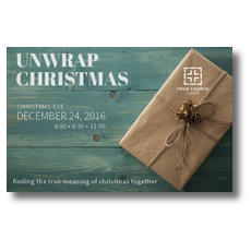 Unwrap Christmas Postcard