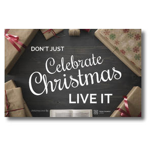 Celebrate Live It Postcards