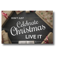 Celebrate Live It Church Postcard