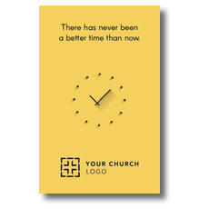 Yellow Clock Postcard