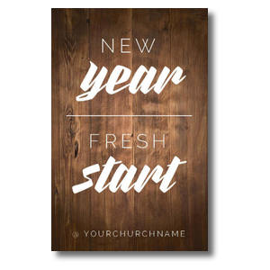 New Year Fresh Start Postcards