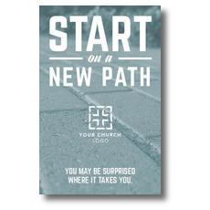 Start New Path Postcard