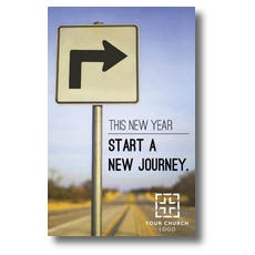 New Year Right Turn Postcard