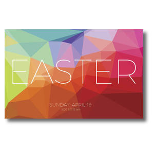 Bright Geometric Easter Postcards