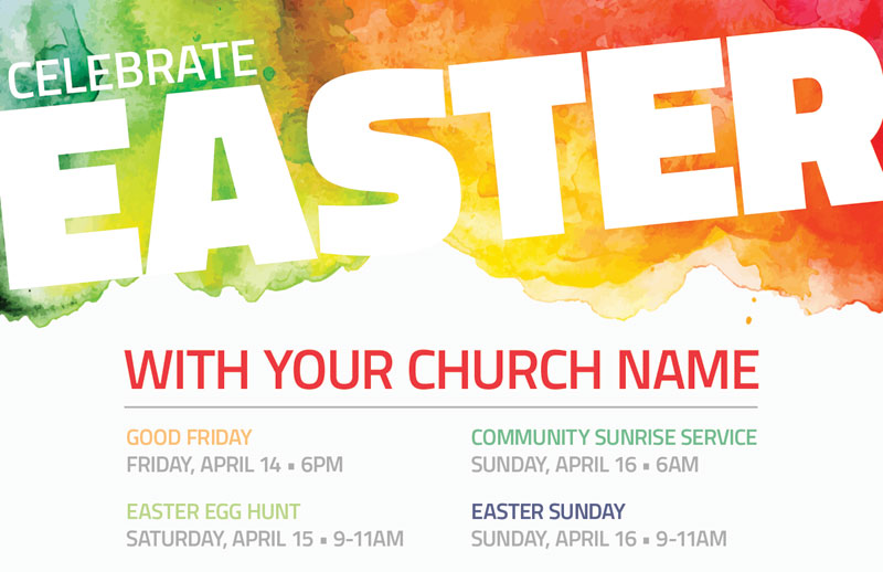 Celebrate Easter Events Postcard Church Postcards
