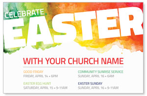 Celebrate Easter Events Church Postcards