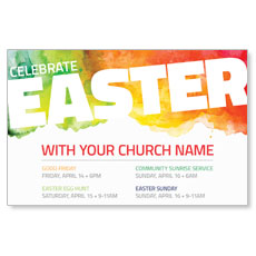 Celebrate Easter Events Postcard