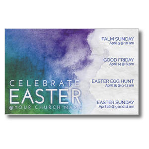 Celebrate Watercolor Easter Postcards