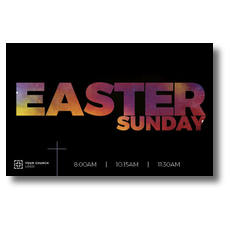 Easter Black and Bright Postcard