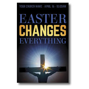 Easter Changes Cross Church Postcards