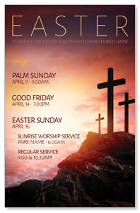 Easter Crosses Hilltop 4/4 ImpactCards