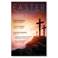 Easter Crosses Hilltop Postcard
