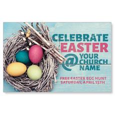 Egg Nest Easter Postcard