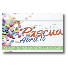 Feliz Pascua Confetti Postcard