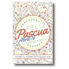 Feliz Pascua Ribbons Postcard