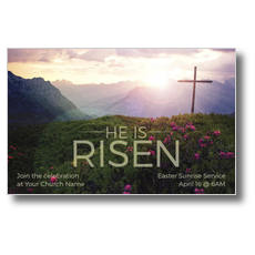 He Is Risen Mountain Postcard