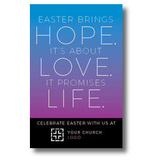 Hope Love Life Postcard