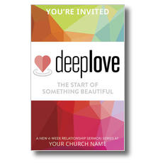 Deep Love Color Church Postcard