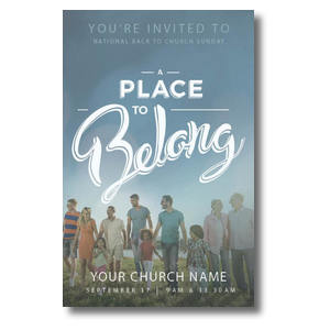 Back to Church Sunday: A Place to Belong Church Postcards