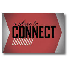 Place to Connect Red Postcard
