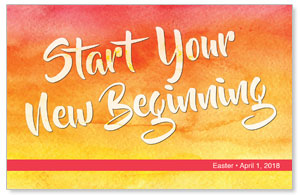 Big Invite New Beginning Postcards