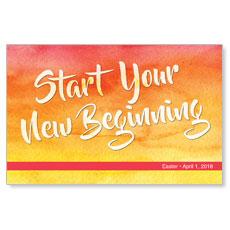 Big Invite New Beginning Postcard