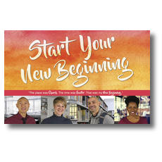 Big Invite New Beginning People Postcard