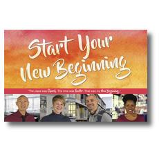 Big Invite New Beginning People Postcard