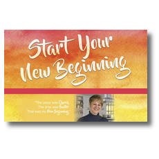 Big Invite New Beginning Jill Postcard